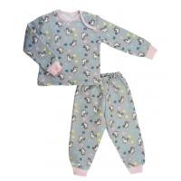 Пижама теплая 610/42  сердца, единороги