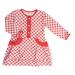 Платье 7040/2 красная клетка, д/р