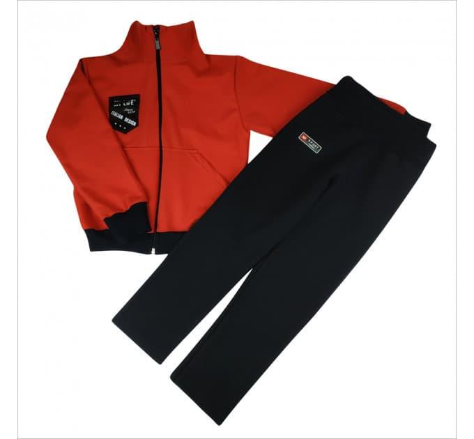 Спортивный костюм 0209/35 (красный с эмблемой)