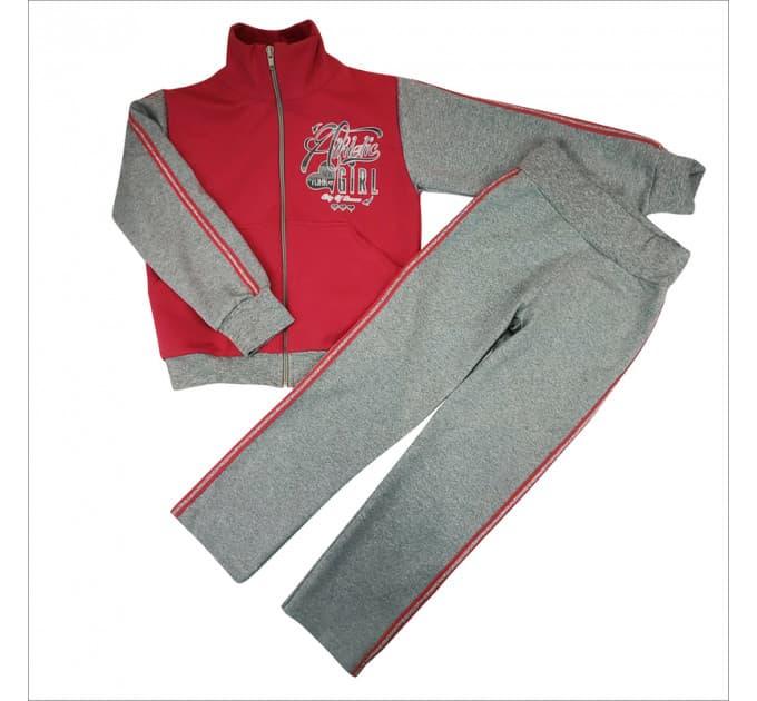 Спортивный костюм 0209/37 (малина, лампасы, рисунок)