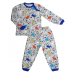Пижама теплая 610/37 меланж с динозаврами