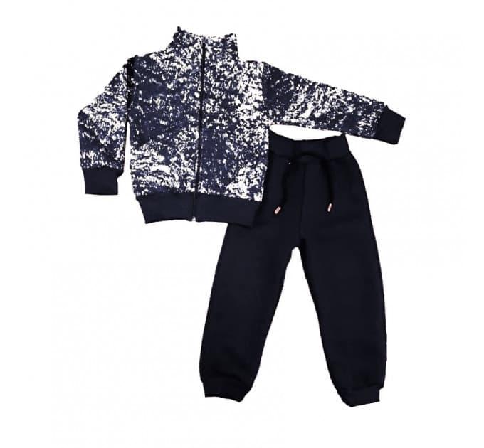 Спортивный костюм 0212/9 (снежок, черный)