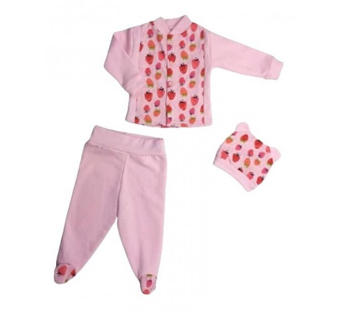 Комплект ясельный (0265/8) розовый, ягодки