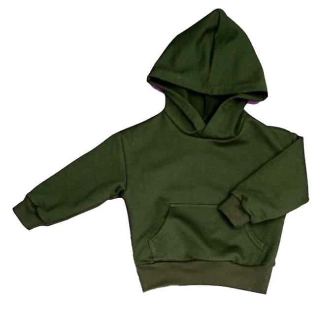 Толстовка (0312/34) т.зеленый, 2х нитка