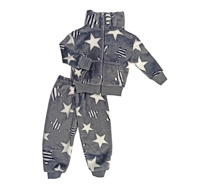 Спортивный костюм (0356/16) серый, звезды