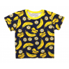Футболка для девочки 411/99 т.синяя, бананы