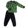 Пижама 602/39 зеленая, дино