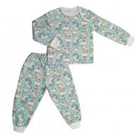 Пижама теплая 610/38 единороги на голубом