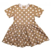 Платье (7028/85) коричневое, горох