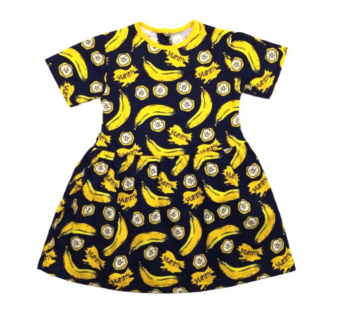 Платье 7072/17 т.синее, бананы