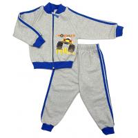 Спортивный костюм 0314/5 (меланж, василек, кант)