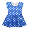 Платье 203/1 горох на синем