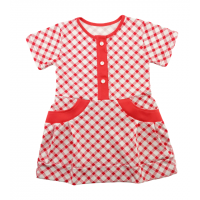 Платье 7040/1 клетка красная