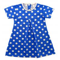 Платье 724/86 синее, горох