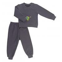 Спортивный костюм 0366/1 (тем. серый, рисунок)