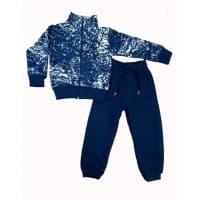 Спортивный костюм 0212/17 (снежок, индиго) 3-нитка