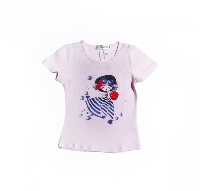 Футболка №12 (розовая с девочкой)