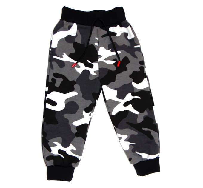 Спортивные штаны 398/3 (камуфляж серый)