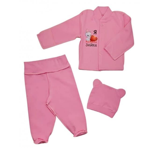 Комплект ясельный 0247/7 розовый с наклейкой
