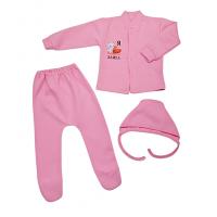 Комплект ясельный 027/10 розовый с наклейкой