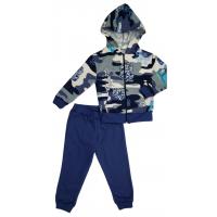 Спортивный костюм 0310/2 голубой камуфляж , печать