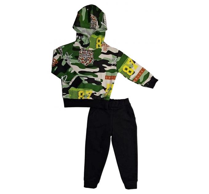 Спортивный костюм (0315/22) камуфляж, зеленый, печать