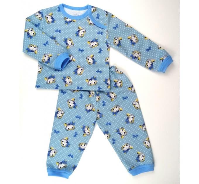 Пижама 616/15 (голубая, кошечки)