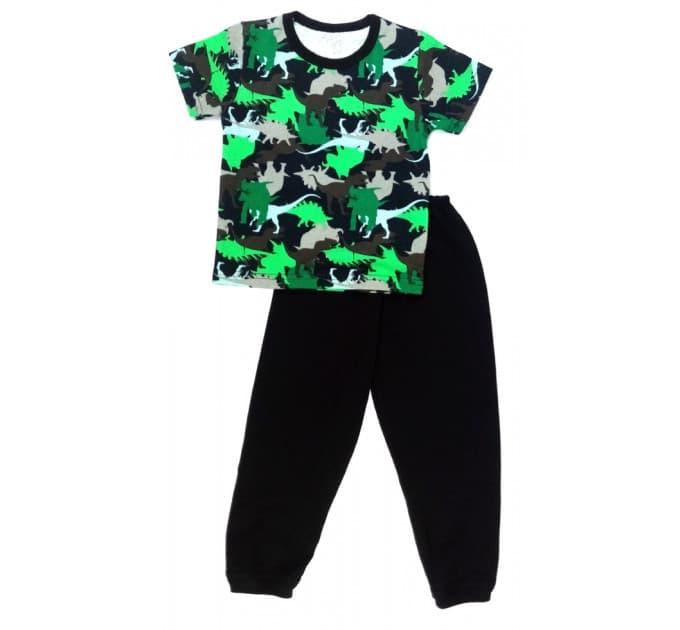 Пижама 638/6 (зеленая, тираннозавр)