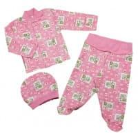 Комплект ясельный 0247/5 розовый, слоны
