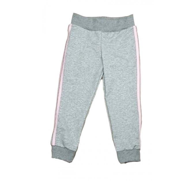 Спортивные штаны 381/45 меланж, розовые лампасы