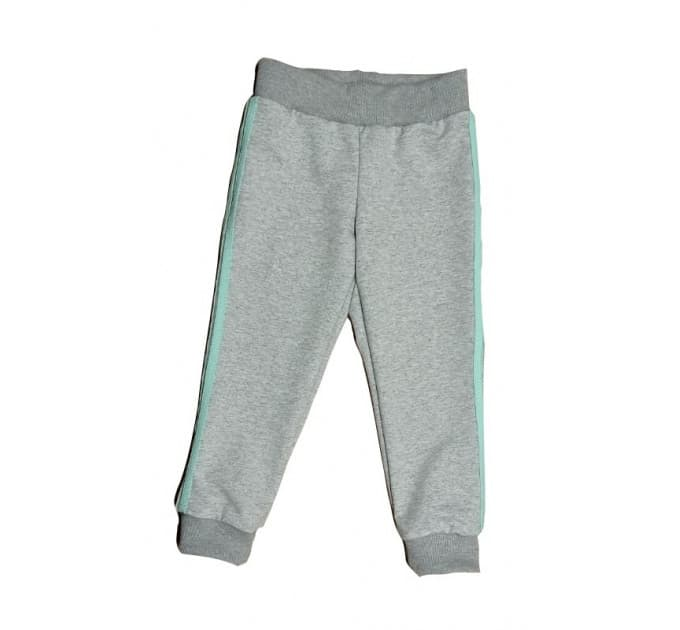 Спортивные штаны 381/46 меланж, мятные лампасы