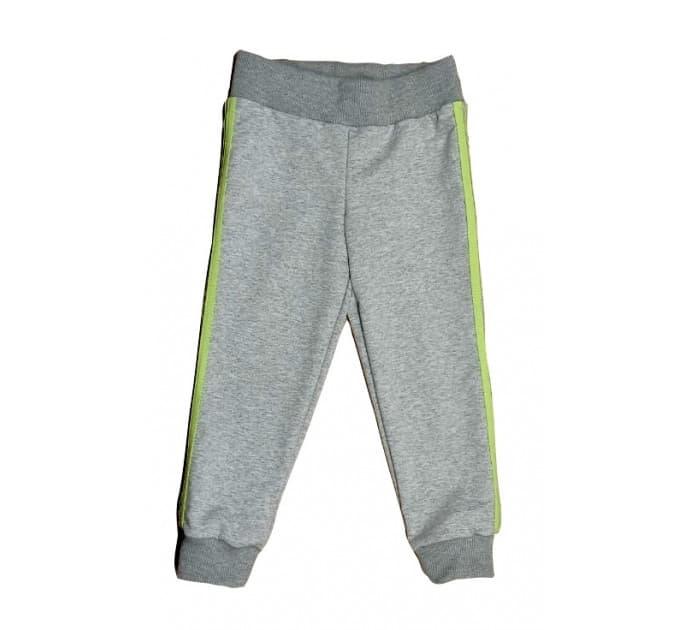 Спортивные штаны 381/47 меланж, салатовые лампасы