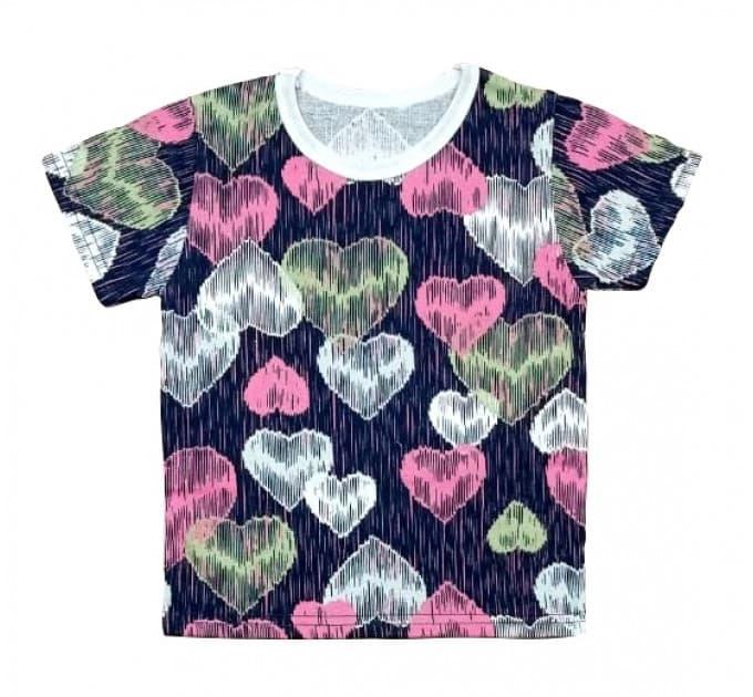 Футболка 411/83 розовые сердца