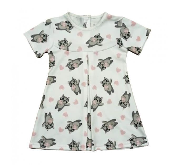 Платье 725/1 кисули, белое