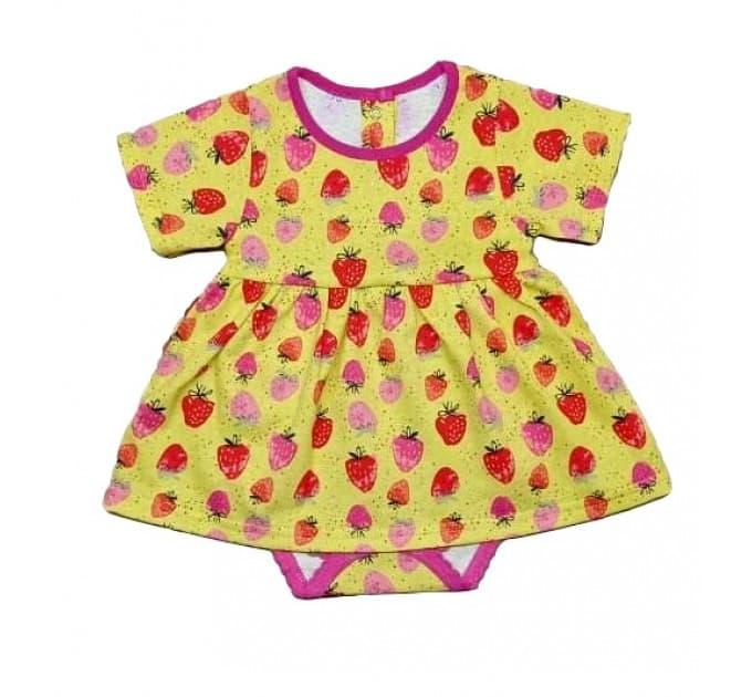 Боди-платье 5139/14 желтое с ягодками
