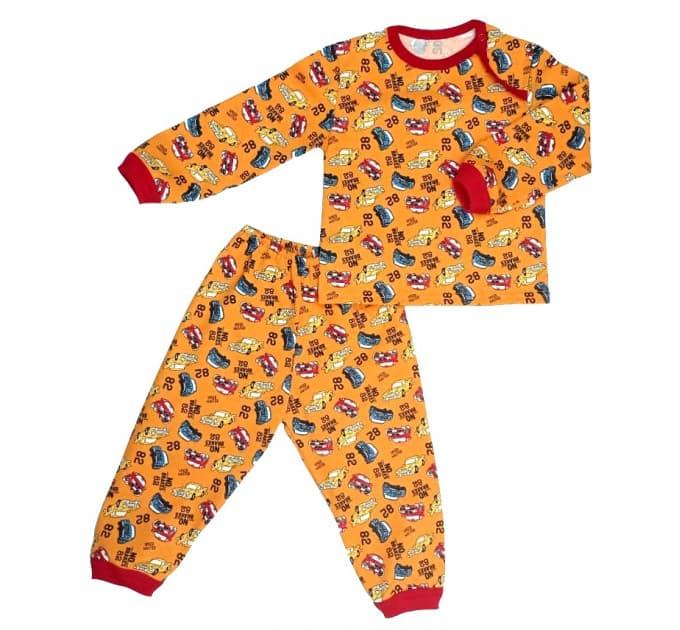 Пижама 602/30 (машинки на оранжевом)