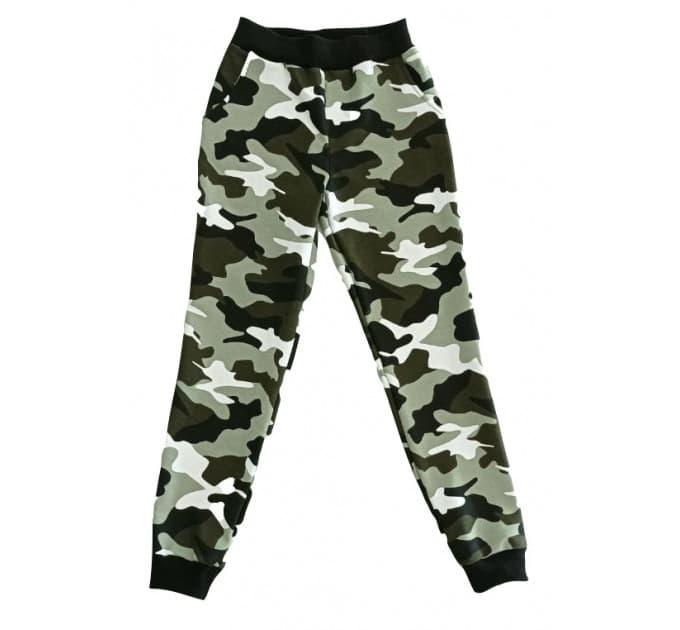 Спортивные штаны 398/6 (камуфляж, карманы)