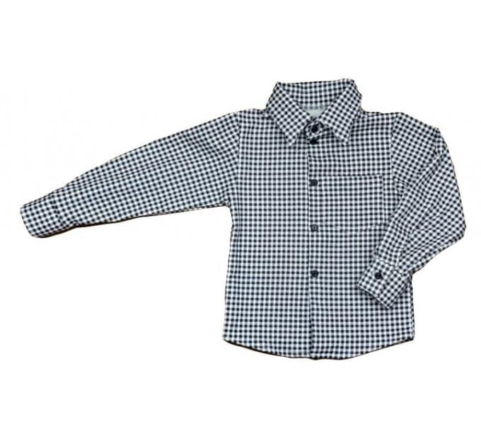 Рубашка теплая 4062/1 (черная, клетка)
