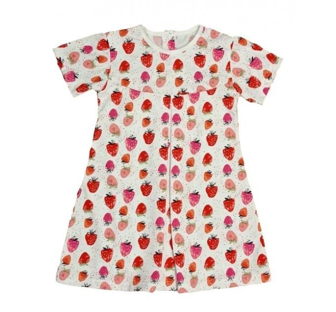 Платье 724/8 ягодки на белом