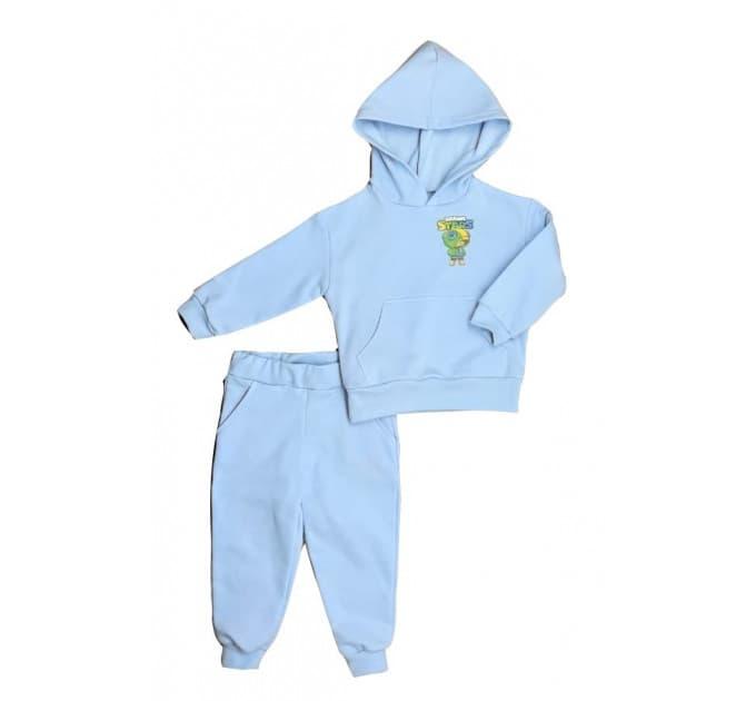 Спортивный костюм 0316/7 голубой с наклейкой