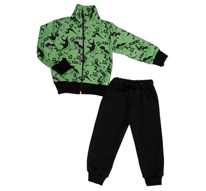 Спортивный костюм 0209/42 (дино, зеленый)