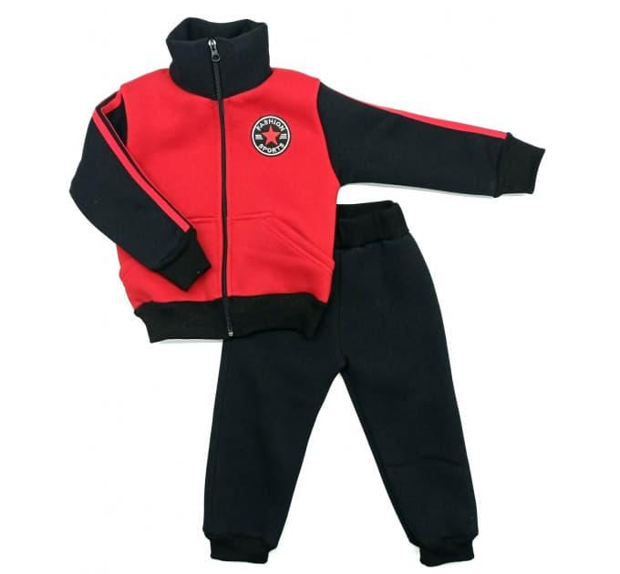 Спортивный костюм 0212/30 (красный, нашивка мальчик)