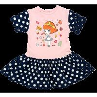 Платье 7044/18 (розовое, средний горох)