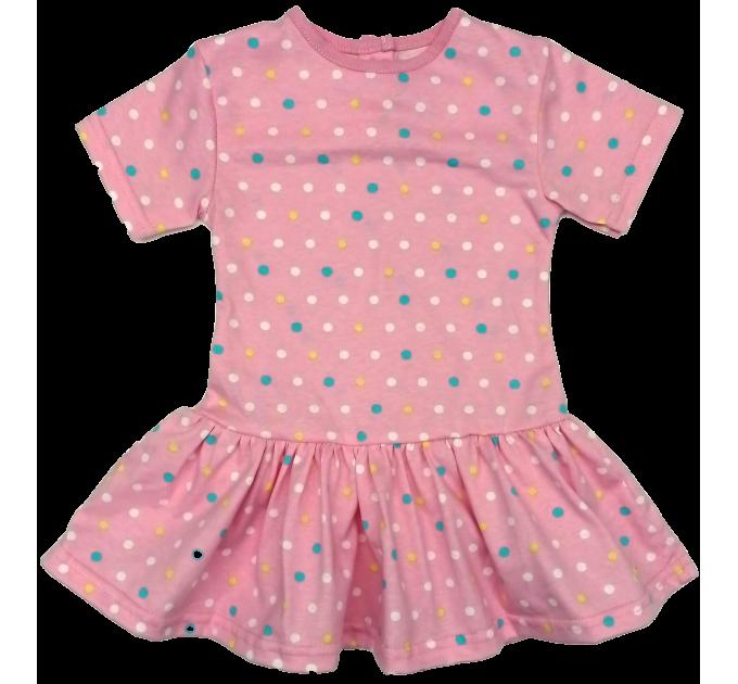 Платье 7044/19 (цветной, мелкий горошек)
