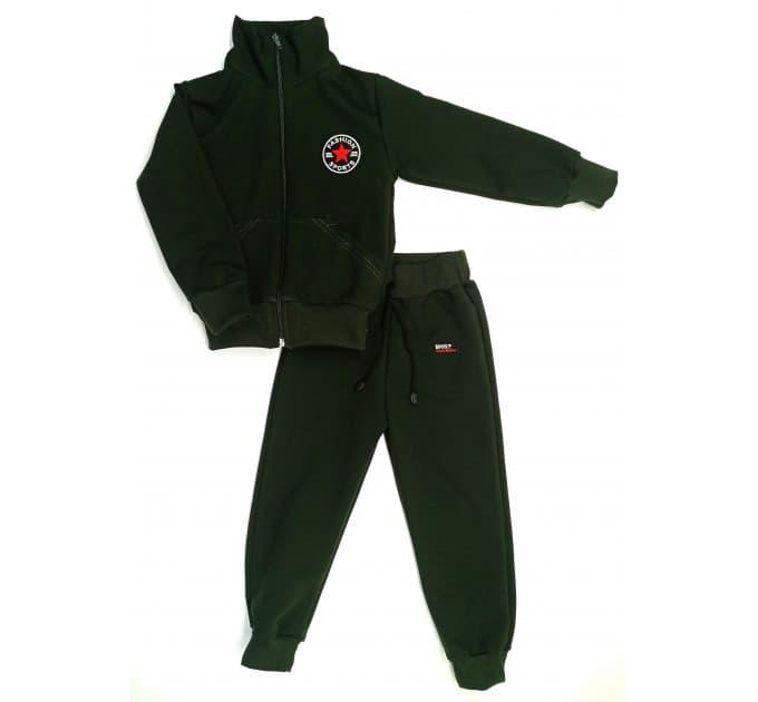Спортивный костюм 0209/51 (болотный с нашивкой)