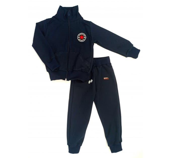 Спортивный костюм 0209/50 (темно - синий с нашивкой)