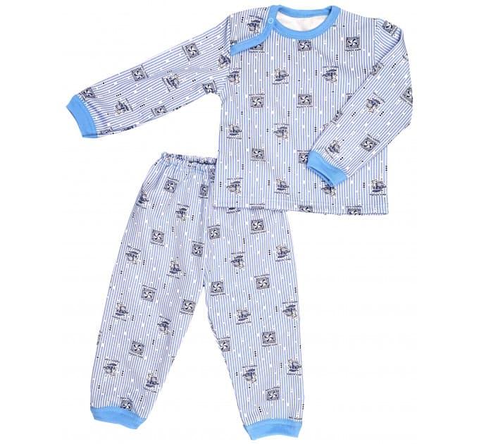 Пижама 610/6 (кораблики на голубом) начес