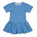 Платье 7044/39 ромбы, голубое