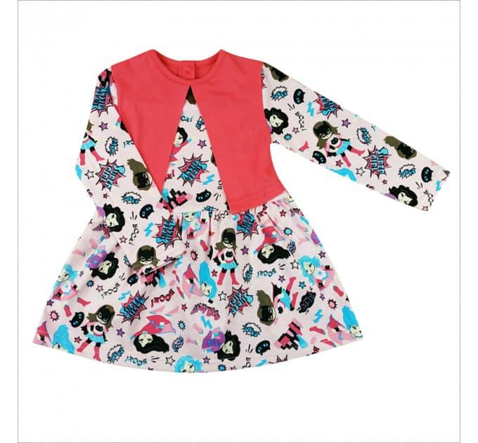 Платье 7104/3 (девочка кошка, длинный рукав)