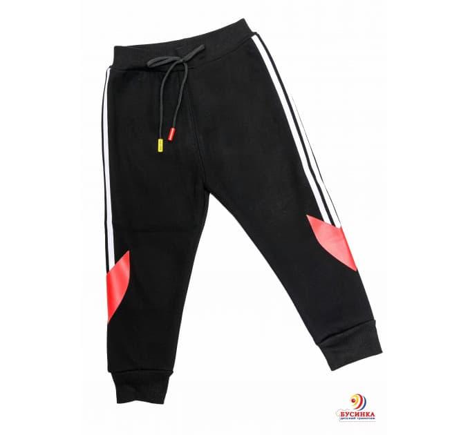 Спортивные штаны №6 (белые лампасы с красным)
